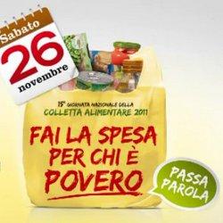 Risultati immagini per Colletta Alimentare.sabato 26 novembre