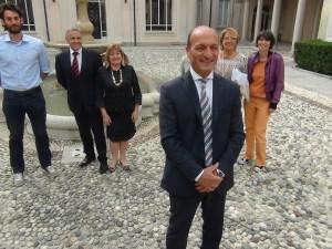 Il presidente Vincenzi con i suoi cinsiglieri provinciali
