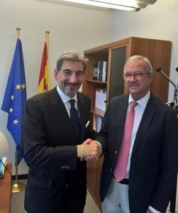 Cattaneo con il vice presidente parlamento europeo Ramón Luis Valcárcel Siso