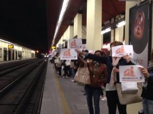 Un recente flashmob del Comitato pendolai