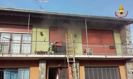 L'appartamento andato a fuoco