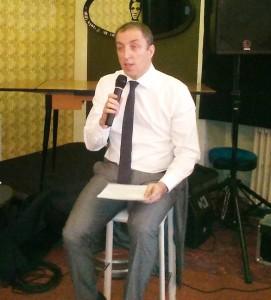 Paolo Orrigoni durante la presentazione