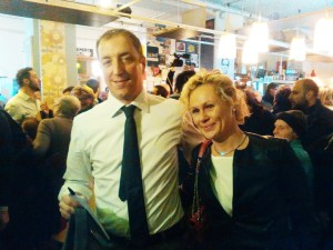 Orrigoni con la moglie