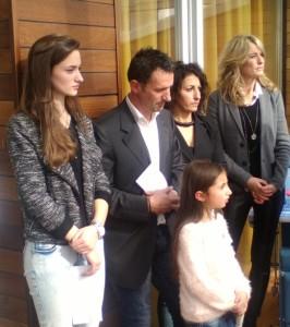 La famiglia Gibellini con la più cara amica di erika