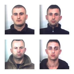 I quattro albanesi arrestati