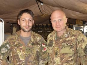 Il colonnello Lunardi a destra nella foto