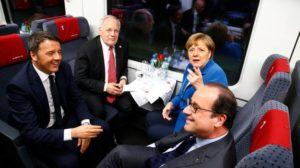 Capi di Stato e di Governo insieme ad alta velocità attraverso le Alpi