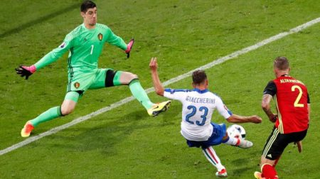 Il gol di Giaccherini (foto keystone)