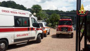 Mezzi di soccorso sul luogo della scomparsa