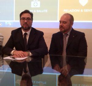 Marco Canale con l'avvocato Antonio Bubici