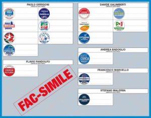 Fac-simile scheda elettorale Varese