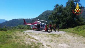 L'elicottero intervenuto oggi