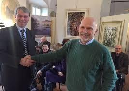 Il sindaco Galimberti con il suo  vice Zanzi