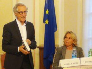 Andrea Buffoni con Stefania Craxi