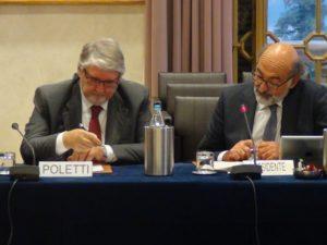 Il ministro con presidente Albertini