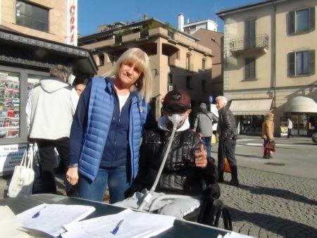 Emanuela Crivellaro con Luca Alfano
