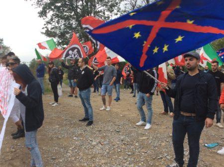 La protesta di Casapound