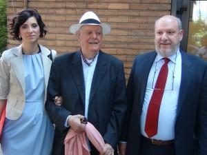 Dario Fo durante presentazione libro all'Insubria di Varese (foto varese7press.it)