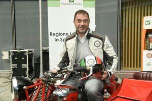 L'assessore regionale Antonio Rossi al Motoraduno