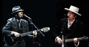 Cohen with Bob Dylan
